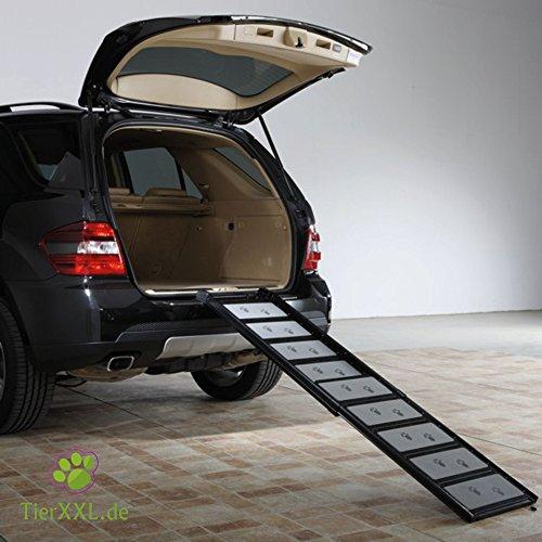TierXXL.de WalkUp Premium Aluminium Hunderampe (Ausziehbar von 110 cm bis 185 cm / Breite: ca. 43 cm) - 3
