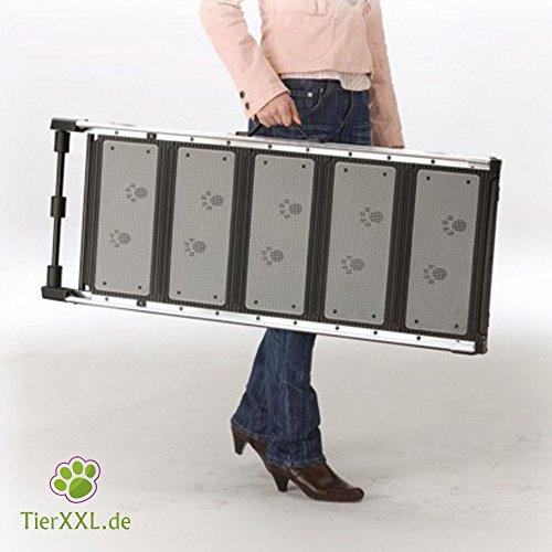 TierXXL.de WalkUp Premium Aluminium Hunderampe (Ausziehbar von 110 cm bis 185 cm / Breite: ca. 43 cm) - 4