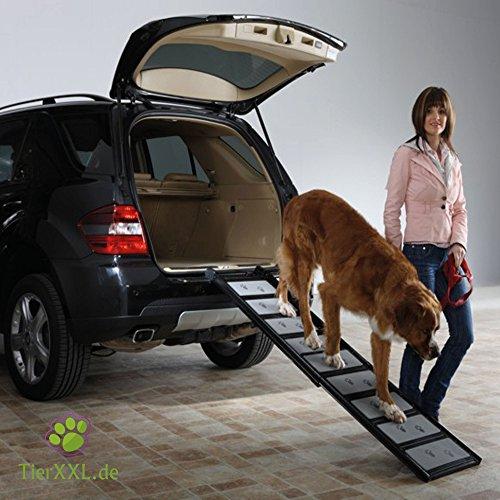 TierXXL.de WalkUp Premium Aluminium Hunderampe (Ausziehbar von 110 cm bis 185 cm / Breite: ca. 43 cm) - 2