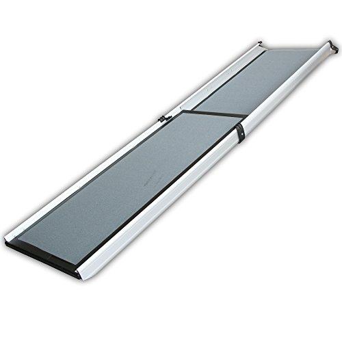 JWS Tierrampe Hunderampe Auffahrrampe Aluminium 1,8m Klappbar Car Gangway, 2120