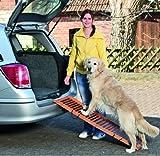 Easy Car -Holz Hundeeinstiegshilfe fürs Auto Hunderampe Treppe -Bis 50 KG - 120 cm