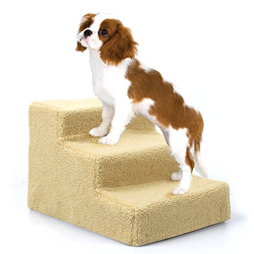 Amzdeal Easy Step Hundetreppe, 45 x 35 x 30 cm, beige