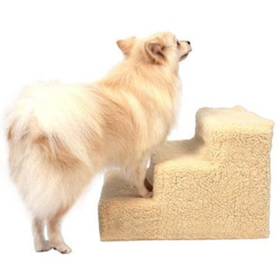 Amzdeal Easy Step Hundetreppe, 45 x 35 x 30 cm, beige - 4