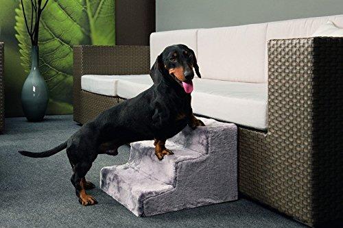 Hundetreppe Easy Step grau Hunderampe Einstieghilfe Rampe Treppe Stufen Hilfe für Hunde 41 x 29,5 x 43 cm (BxHxT) Bis 60 KG