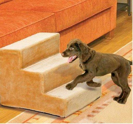 Hundetreppe Hunderampe Hunde Rampe Treppe Stufen beige 41 x 29,5 x 43 cm (BxHxT) Bis 60 KG