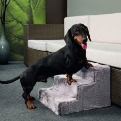 Karlie Hundetreppe EASY STEP - Grau 41 x 29,5 x 43 cm, Hunderampe, Hundestufe