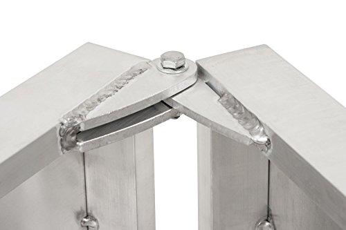 Faltbare Aluminium Hunderampe, Autorampe in verschiedenen Längen (183 x 38 x 5 cm) - 6