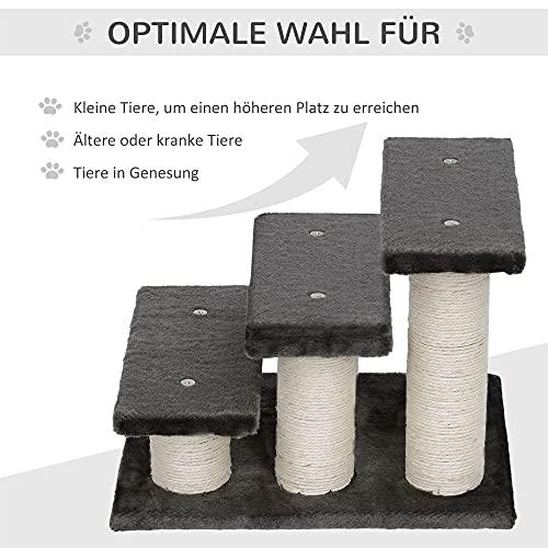PawHut® Tiertreppe Katzentreppe Hundetreppe Treppe für Katze und Hunde 3 Stufen Neu - 8