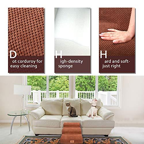 MASTERTOP Haustiertreppe für Hunde und Katzen mit, 3 Stufen Hundetreppe für Hunde und Katzen für hohe Betten, Leiter Haustierleiter, tragbar, abnehmbar, waschbar mit 1 Spielzeugknoten - 5