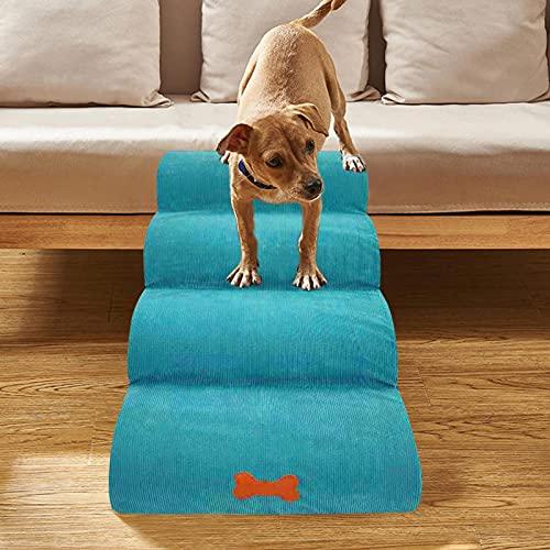 4-Stufen-Haustiertreppe, Hundetreppe Welpentreppe Katzentreppe Atmungsaktiv 4-Stufige-Hundeleiter für Trainingsspiele Haustier-Kletterleiter für Hundekatzen kleine Haustiere, 31,5