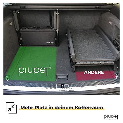 PiuPet® Universal Hundetreppe für große und kleine Hunde - bis 80 kg belastbar - für alle Fahrzeuge nutzbar - klappbare Hunderampe - 4