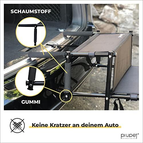 PiuPet® Universal Hundetreppe für große und kleine Hunde - bis 80 kg belastbar - für alle Fahrzeuge nutzbar - klappbare Hunderampe - 5