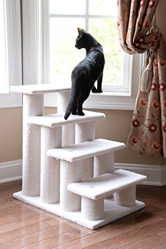 ARMARKAT Katzentreppe / Tiertreppe / Hundetreppe bis 77 cm hoch mit Kratzstämmen (C) - 2