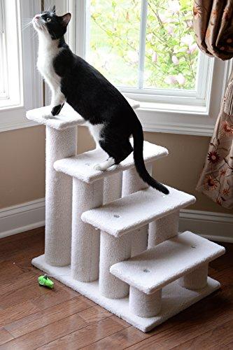ARMARKAT Katzentreppe / Tiertreppe / Hundetreppe bis 77 cm hoch mit Kratzstämmen (C) - 3