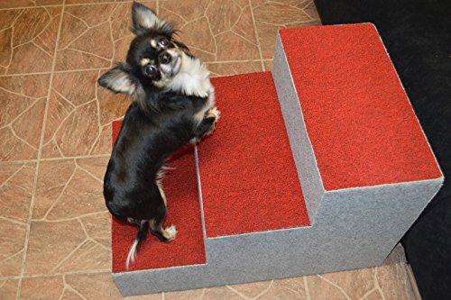 Ruhti 012 Hundetreppe Treppe für Hunde mit Höhle und Liegekissen 60 x 40 x 40cm