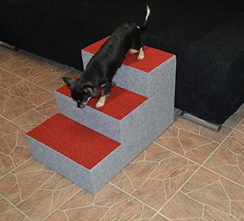 Ruhti 012 Hundetreppe Treppe für Hunde mit Höhle und Liegekissen 60 x 40 x 40cm - 4