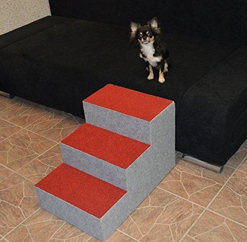Ruhti 012 Hundetreppe Treppe für Hunde mit Höhle und Liegekissen 60 x 40 x 40cm - 5