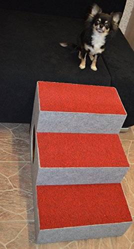 Ruhti 012 Hundetreppe Treppe für Hunde mit Höhle und Liegekissen 60 x 40 x 40cm - 7