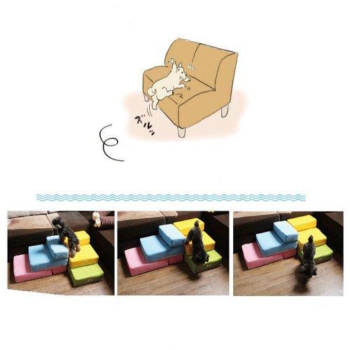 Kondrao 2 Stufen Einfach Schritt Hund Treppen abnehmbare Abdeckung, L26.3