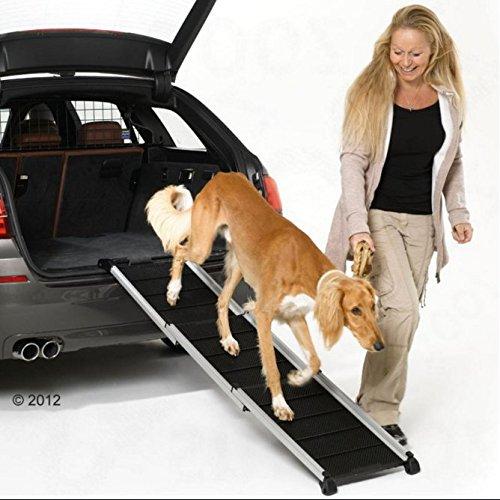 Faltbar Alu Teleskop Hunderampe (geeignet für Hunde bis 85kg)–Eine perfekte, um Ihr Hund in und aus der Auto - 2