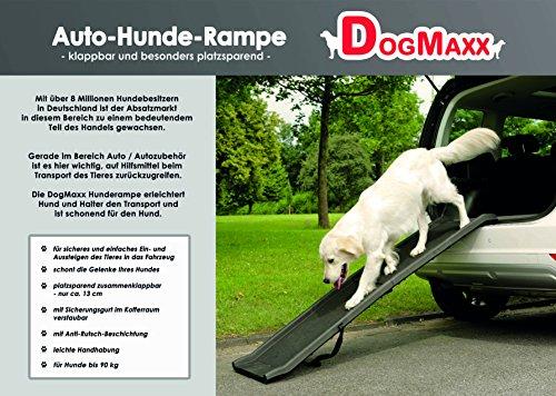 Hunderampe, Klapp-Rampe, DogMaxx - Jetzt neu! mit Sicherungsgurt, ca. 40 x 155cm -