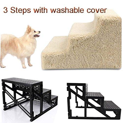 3 Schritte Treppe Treppe mit Deckel für Wenig Alteren Doggy Lieblingshund -