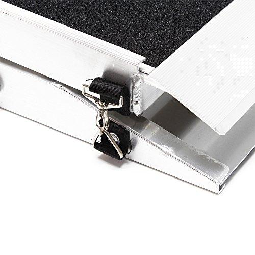 Hunderampe Tierrampe 1fach faltbar Aluminium rutschfeste Oberfläche 244 x 38cm 110kg - 5