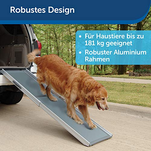 PetSafe Solvit Deluxe Teleskop Aluminium Hunderampe XL, Anti- Rutsch Autorampe, für Hunde und Katzen - 3