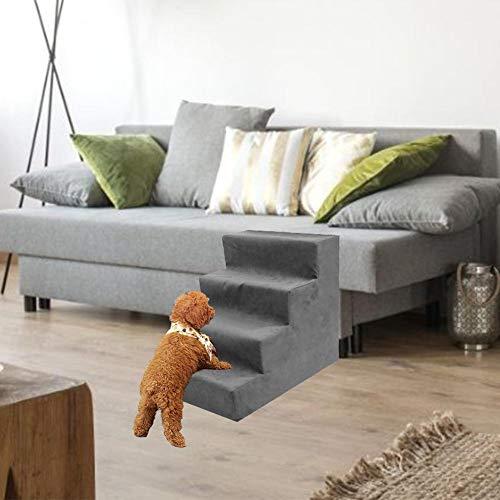 yummyfood Hundetreppe 3/4 – Stöckige Haustiertreppe Tiertreppe Haustier Treppen Stufen, Für Haustiere, Die Auf Dem Sofa Oder Im Bett Klettern - 3