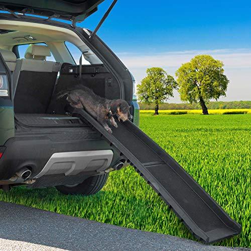 Goods & Gadgets Hunderampe klappbar Hundetreppe Hunde Rampe Einstiegshilfe für Kofferraum 156 x 40 cm - 5