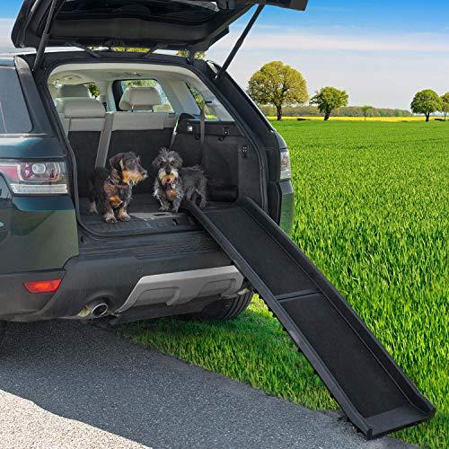 Goods & Gadgets Hunderampe klappbar Hundetreppe Hunde Rampe Einstiegshilfe für Kofferraum 156 x 40 cm - 4