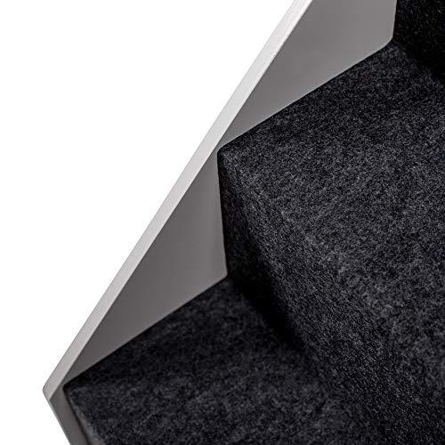 UPP Hundetreppe Premium   Massiv aus FSC Holz und höhenverstellbar  3-stufige Treppe für Hunde bis 70 kg   Klappbare Hunderampe für Auto und Innenbereich [Weiß] - 5