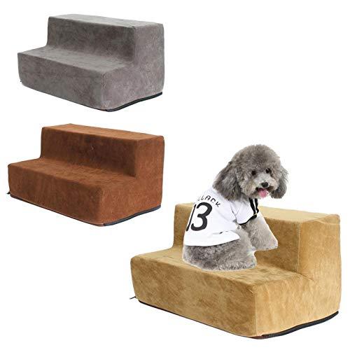 2-4 Stufen Hundetreppe Waschbar Katzen- Und Hundeklettern Umweltfreundliche Schwammtreppen Kleiner Hund Teddy Schlafsofa Leiter / Hundetreppe Für Bett (2/3 4 Lagen, Grau, Kaffee, Dunkelbraun) - 2