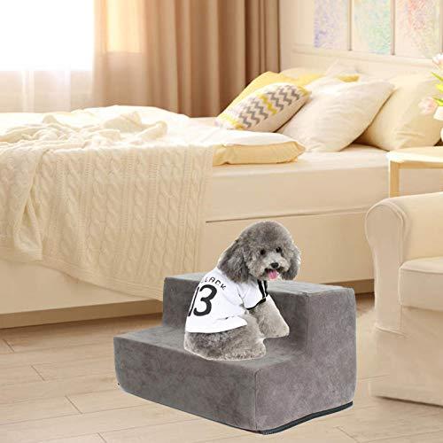 2-4 Stufen Hundetreppe Waschbar Katzen- Und Hundeklettern Umweltfreundliche Schwammtreppen Kleiner Hund Teddy Schlafsofa Leiter / Hundetreppe Für Bett (2/3 4 Lagen, Grau, Kaffee, Dunkelbraun) - 5