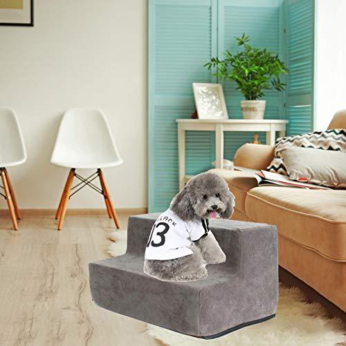 2-4 Stufen Hundetreppe Waschbar Katzen- Und Hundeklettern Umweltfreundliche Schwammtreppen Kleiner Hund Teddy Schlafsofa Leiter / Hundetreppe Für Bett (2/3 4 Lagen, Grau, Kaffee, Dunkelbraun) - 3