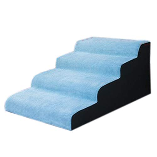 Hundetreppe katzentreppe Blaue Hundetreppe for Couch for Kind, Extra Breite Tragbare Hundeleiter for Schlafzimmer Wohnzimmer, Belastung 30kg (Size : 40cm/16 inch Height)